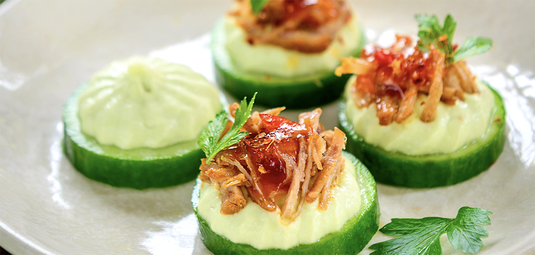 Cucumber and Pulled Pork Sliders