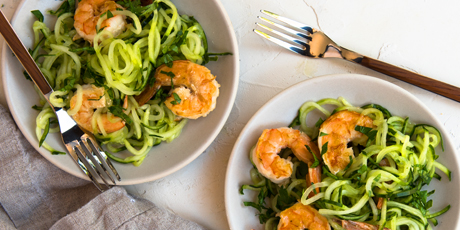 cucumber noodle shrimp