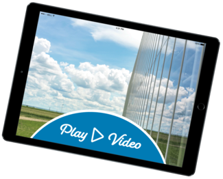 Tablet device instructing user to Play Video